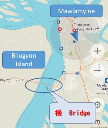 Mawlamyine、Bilugyun Island, ベリーアイランド、行き方、バイク、レンタル、mawlamyine.info