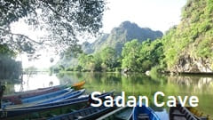 Sadan Cave Hpa-an Pa-an boat photo