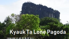 Kyauk Ta Lone Pagoda Taung Mountain photo