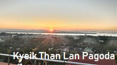Kyeik Than Lan Pagoda photo Sunset