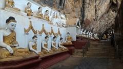 Mawlamyine Hpa-an Pa-an Kaw Gon Cave Photo Buddha