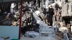 キャウッタロン・パゴダ Kyauk Ta Lone Pagoda Taung Mountain 途中 Middle of point Mawlamyine Mawlamyine 写真 photo