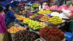 フルーツ、Mawlamyine、ミャンマー、果物、写真