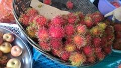 ランブータン、フルーツ、ミャンマー、Mawlamyine、果物