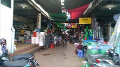 mawlamyine zeigyi central market、マーケット、Mawlamyine市内、お菓子、食べ物