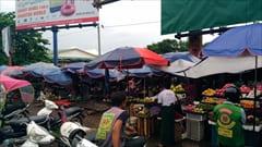 Mawlamyine、ゼイギー・アッパーマーケット 写真 果物、フルーツ、野菜、肉